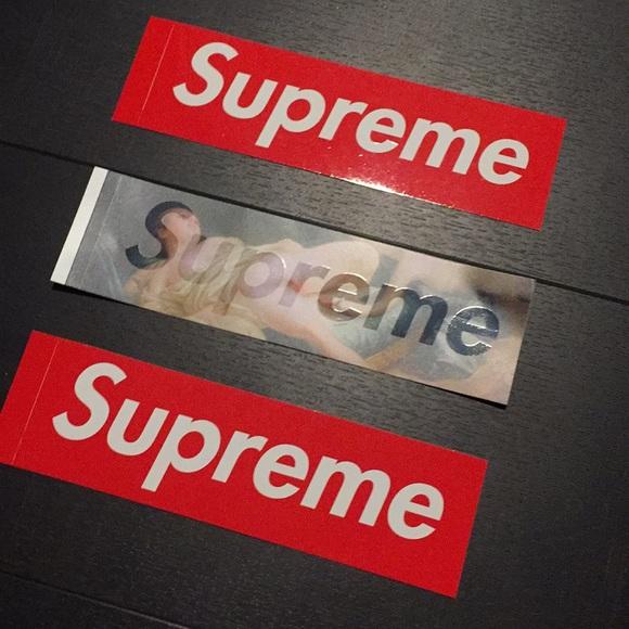 Supreme Box Logo Sticker Scratch Off